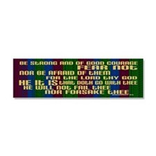 Deuteronomy 31 6 Faith Stripes Car Magnet 10 x 3