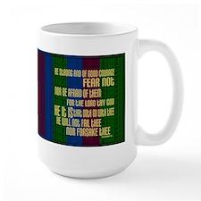 Deuteronomy 31 6 Faith Stripes Mug