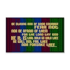 Deuteronomy 31 6 Faith Stripes Car Magnet 20 x 12
