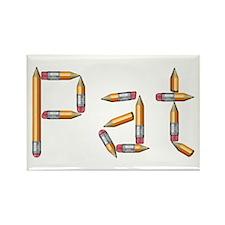Pat Pencils Rectangle Magnet
