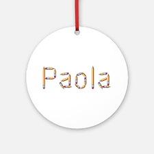 Paola Pencils Round Ornament