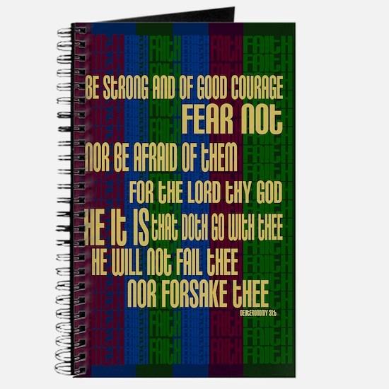 Deuteronomy 31 6 Faith Stripes Journal