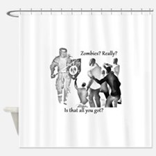 zombies knight medieval Shower Curtain