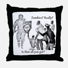 zombies knight medieval Throw Pillow