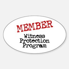 Member Witness Protection Pro Oval Decal