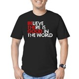 Be the good in the world Fitted T-shirts (Dark)