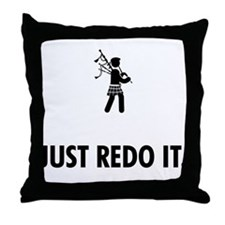Bagpiping Throw Pillow
