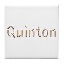 Quinton Pencils Tile Coaster