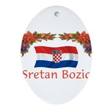 Cute Croatia Ornament (Oval)