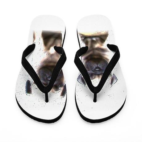 Pug Puppies Flip Flops