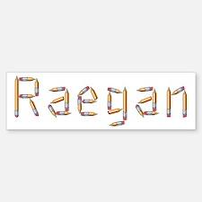 Raegan Pencils Bumper Bumper Bumper Sticker