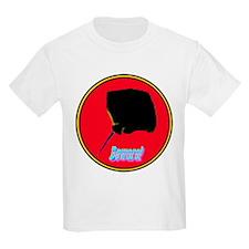 Beware Stingray Bloodred Kids T-Shirt