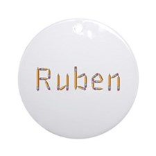 Ruben Pencils Round Ornament