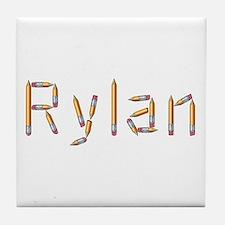 Rylan Pencils Tile Coaster
