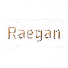 Raegan Pencils Aluminum License Plate