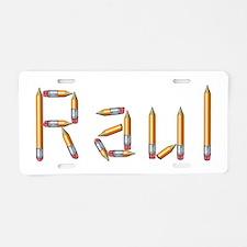 Raul Pencils Aluminum License Plate