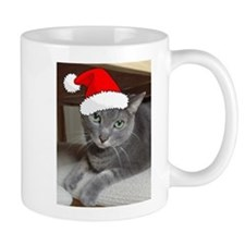 Christmas Russian Blue Cat Mug
