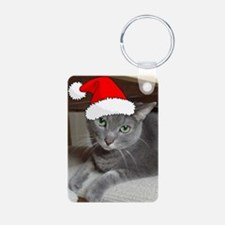 Christmas Russian Blue Cat Keychains