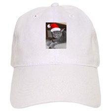 Christmas Russian Blue Cat Baseball Cap