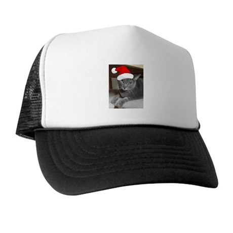 Christmas Russian Blue Cat Trucker Hat