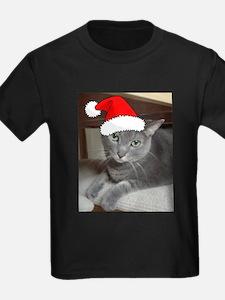 Christmas Russian Blue Cat T