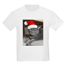 Christmas Russian Blue Cat T-Shirt