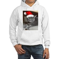 Christmas Russian Blue Cat Hoodie