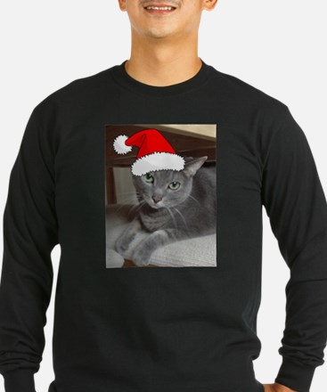 Christmas Russian Blue Cat T