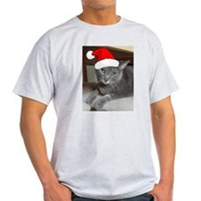 Christmas Russian Blue Cat T-Shirt