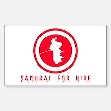 Samurai For Hire Rectangle Decal