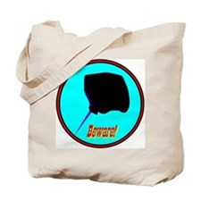 Beware Stingray Tote Bag