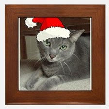 Christmas Russian Blue Cat Framed Tile