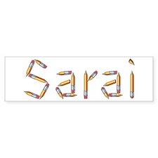 Sarai Pencils Bumper Car Sticker