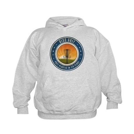 Putt Plastic In Its Place #4 Kids Hoodie