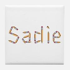 Sadie Pencils Tile Coaster