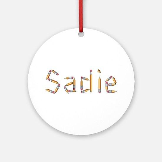 Sadie Pencils Round Ornament