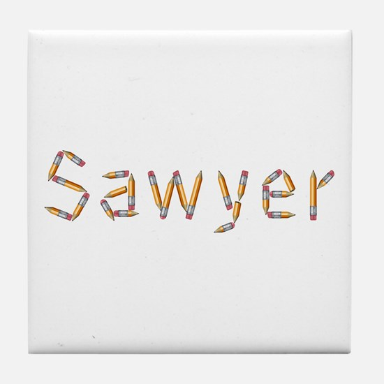 Sawyer Pencils Tile Coaster