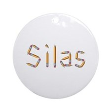 Silas Pencils Round Ornament