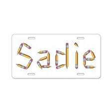 Sadie Pencils Aluminum License Plate