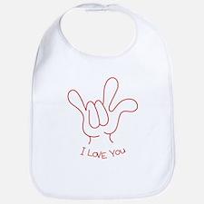 """I Love You"" Sign Language Bib"