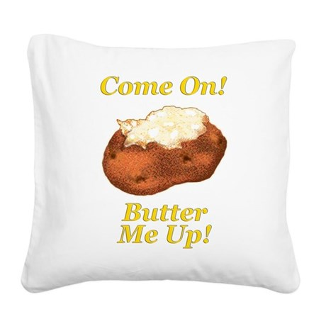 Butter Me Up Square Canvas Pillow