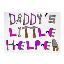 Daddys Little Helper 5'x7'Area Rug