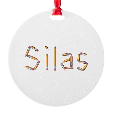 Silas Pencils Round Ornament