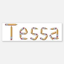 Tessa Pencils Bumper Car Car Sticker