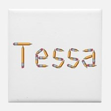 Tessa Pencils Tile Coaster