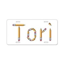 Tori Pencils Aluminum License Plate
