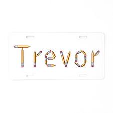Trevor Pencils Aluminum License Plate