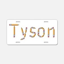 Tyson Pencils Aluminum License Plate
