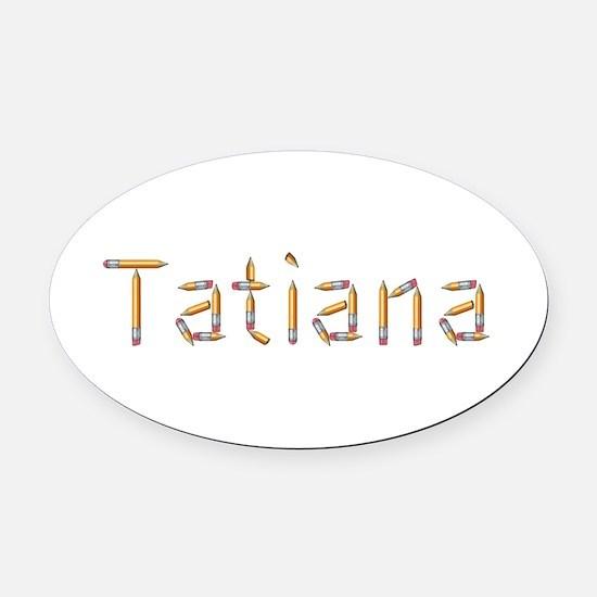Tatiana Pencils Oval Car Magnet