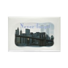 WTC Never Forget Rectangle Magnet
